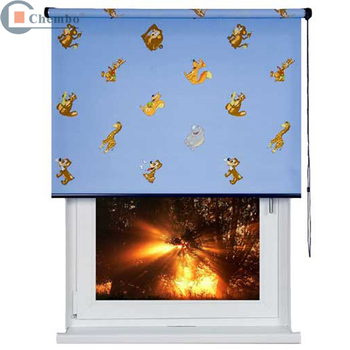 Electric motorized curtain outdoor logo design chain for Exterior no chain window shade