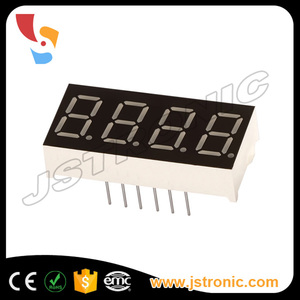 0.8 inch amber color 4 digit 7 segment led numeric display