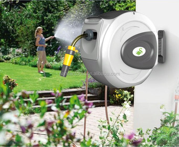 20m Auto Rewind Hose Reel Expandable Retractable Wall Mounted Hose