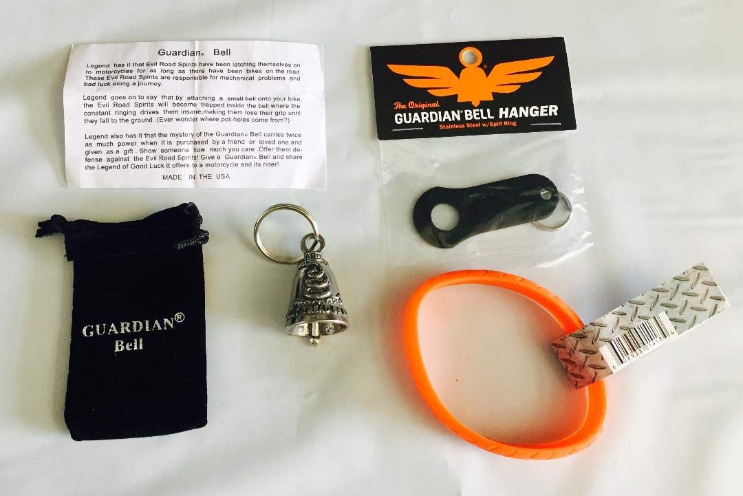Guardian® Bell Don't Tread ON ME Complete Motorcycle KIT W/Black Hanger & Wristband