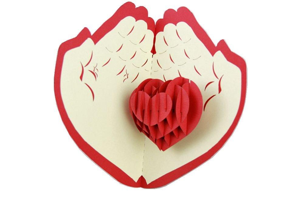 Открытка своими руками сердце в ладошках
