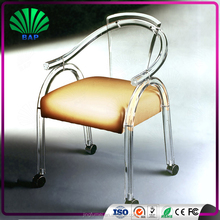 2016 hot sale customized design home furniture solid cheap acrylic armrest bubble dining chair