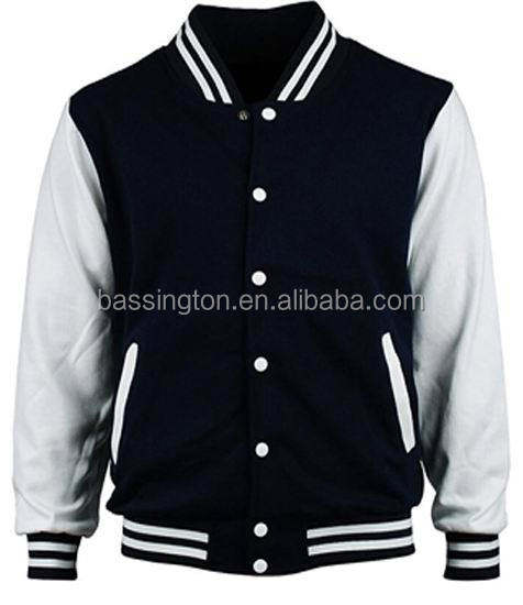 Hot sals european style fleece varsity jacket college jacket club jacket