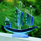 Crystal Sailing Boat Model, Glass Crafts for Decoration