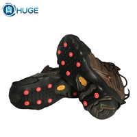 safety ice shoe cover ice cleats climbing silicone ice crampons for shoes snow grippers hiking shoes