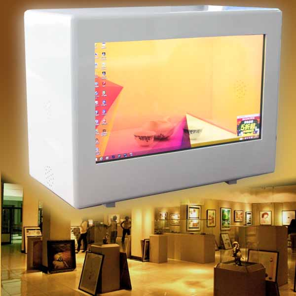 transparent lcd display light box with transparent lcd glass