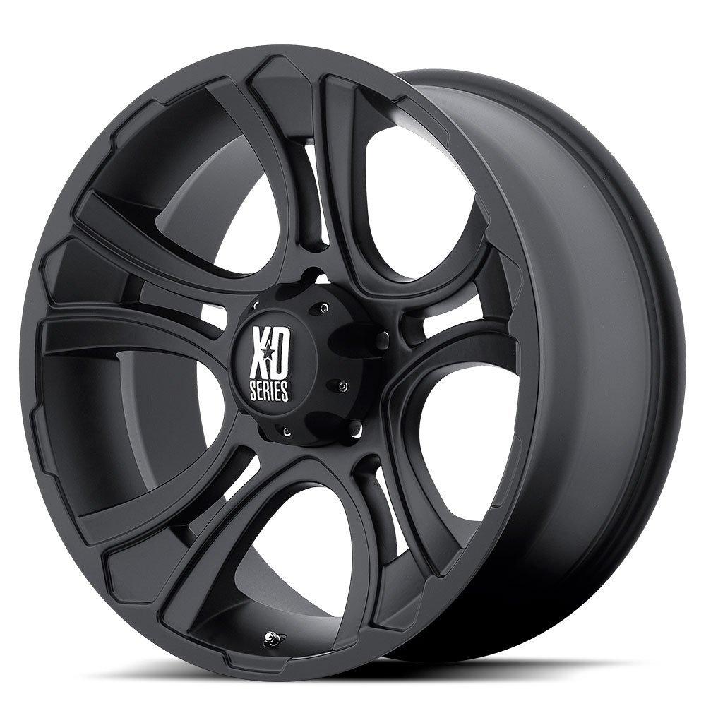 18 Inch 18x9 KMC XD SERIES wheels CRANK Matte Black wheels rims