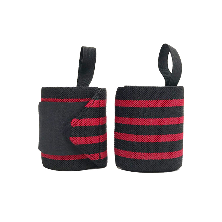 Factory Price Fit Thumb Stabilizer Gym Straps Wrist Band Wrist Support Brace With Weight Lifting, Black and red