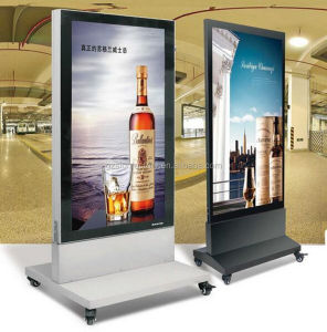 Outdoor Stand LED Menu Boards Double Sided Aluminum Advertising Poster Frame Restaurant Light Boxes