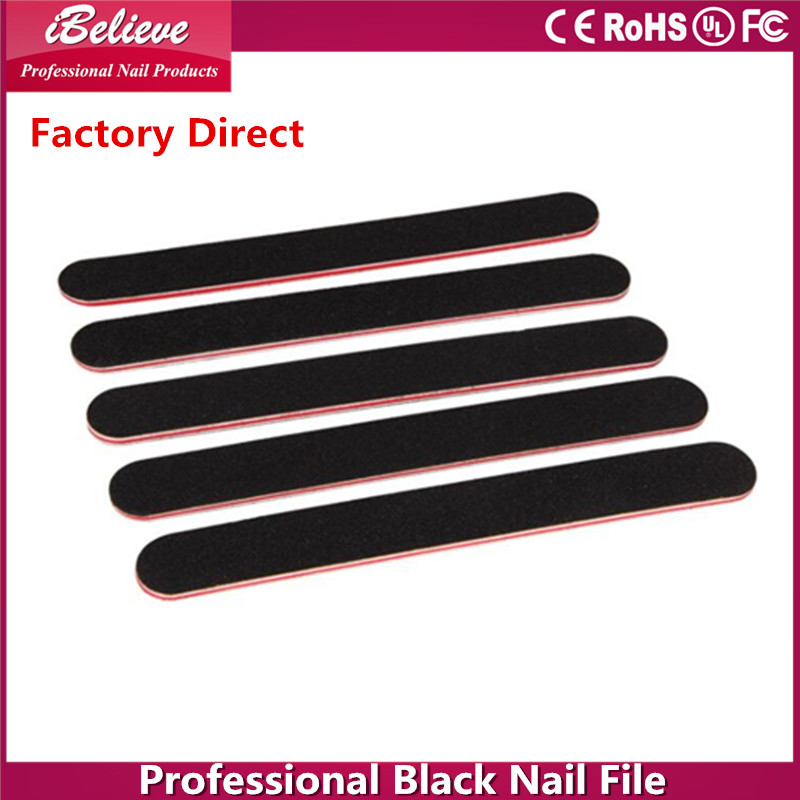 Factory wholesale professional manicure black 7 inch diamond emery board