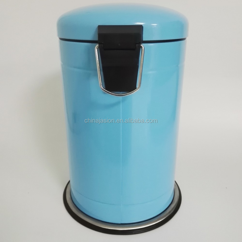 Powder Coated Dustbin 12l Stainless Steel Foot Pedal Trash Can ...