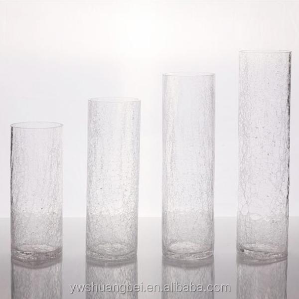 billige gro handel wei crack glas vase f r dekoration. Black Bedroom Furniture Sets. Home Design Ideas