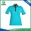 Popular color combination dri fit polyester spandex blend fabric ladies zipper golf shirts,polo t shirt