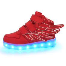 Factory wholesale OEM USB charge kids led shoes Cool led light up shoes