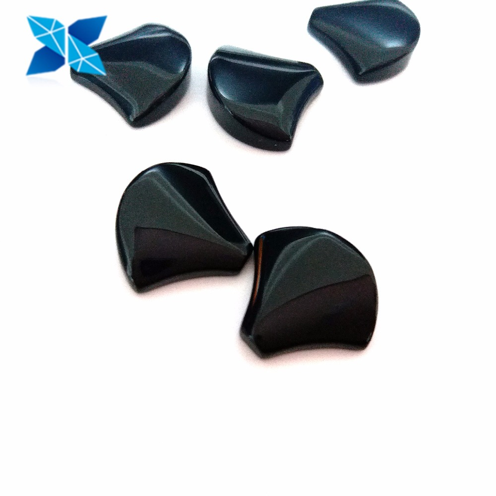 Good Polish Fan shaped Loose Natural Black Agate Gems