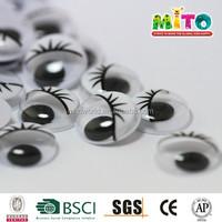 Toy Accessories Black Craft Eyelash Moving Eyes