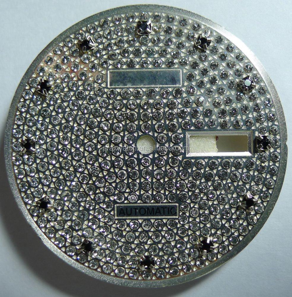 Watch Parts Ladies Diamond Watch Dial - Buy Watch Dial Design Diamond  Studded Watch,Ladies Stone Watches Dial,Watch Parts Stone Watches For Women