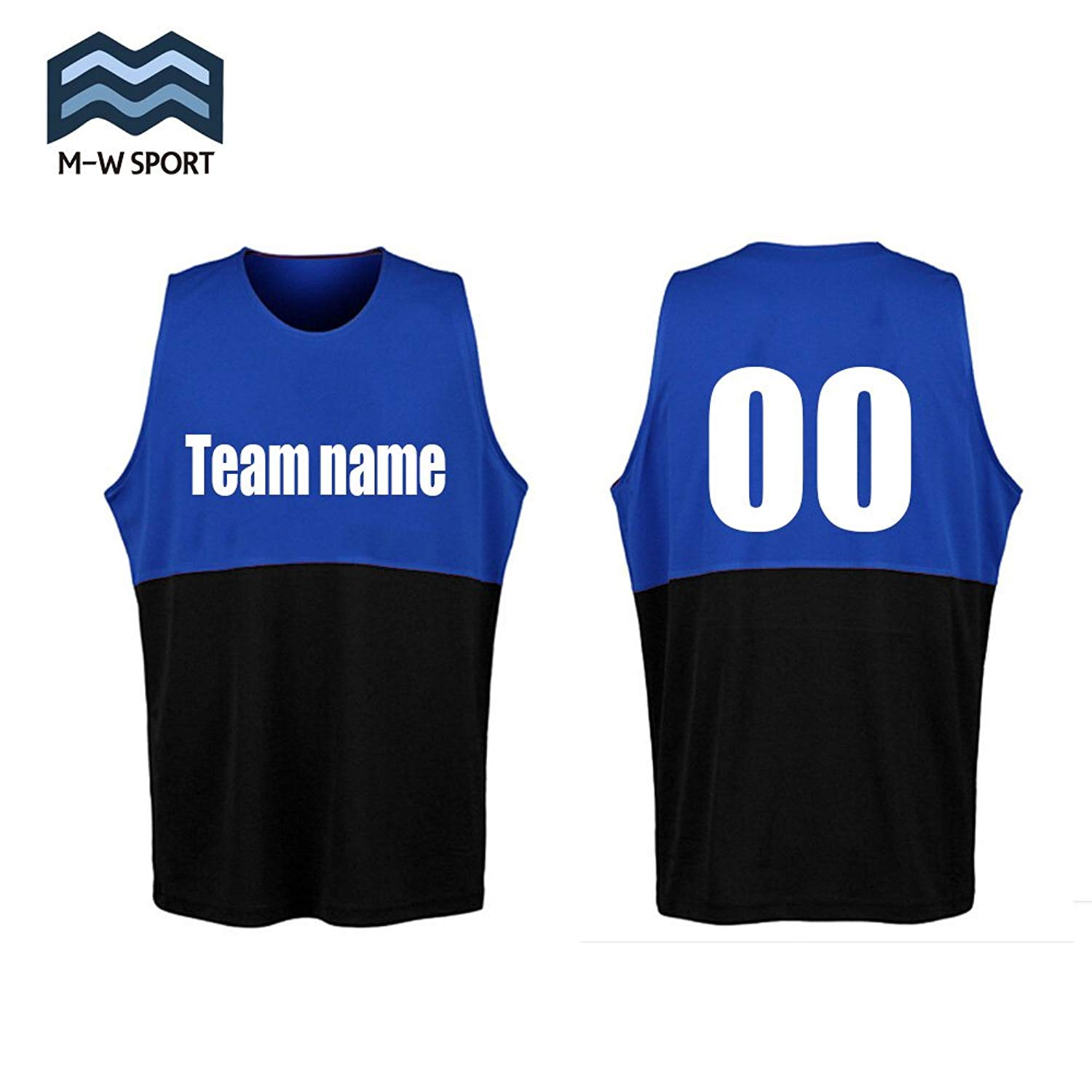 4cb4a93c6359 Get Quotations · M-W Sports Custom Basketball Jerseys Two-Colored Design  Make Your Own Basketball Set