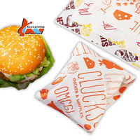 customized design Disposable Recyclable manufacture Silicone Oil LOGO printed burger wrapping paper