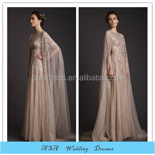 EV528 Brilliant Islamic Muslim long sleeve Beading crystal rihnestone with jacket gelinlik evening gowns