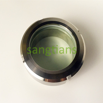 304 Sanitary Union Type Sight Glass Stainless Steel Hygienic Tank Parts