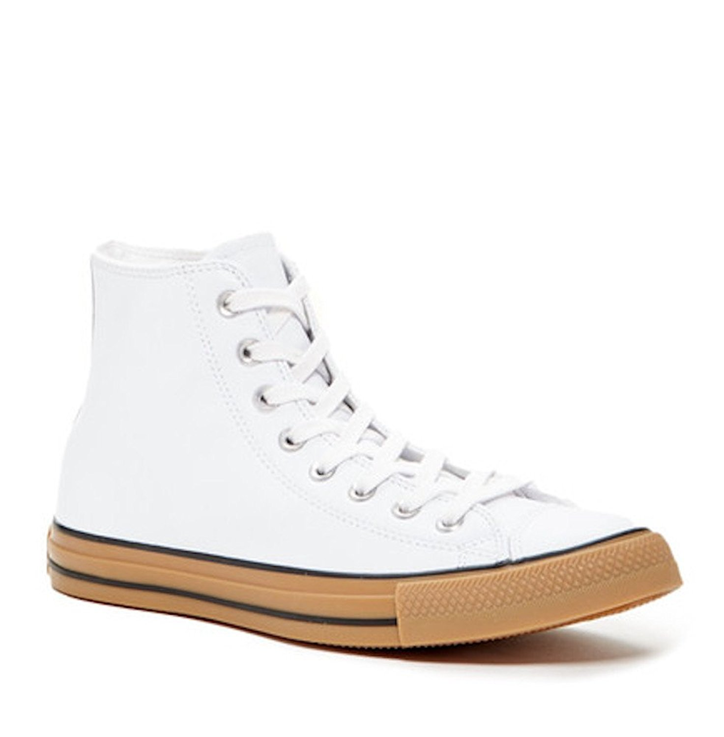 6796b39fed3ed4 Get Quotations · Converse Chuck Taylor All Star Hi White Leather Size 12  Men s Women s 14 ...