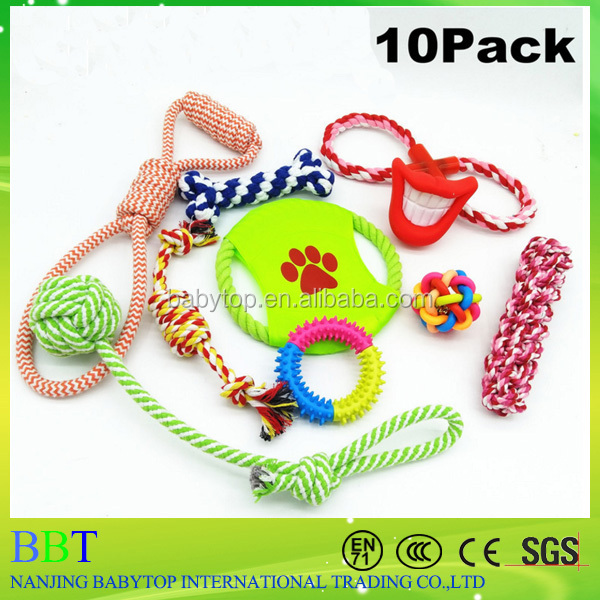Dog Rope Toys 10 Set Pack Variety Pet Toy For Medium to Small Dog