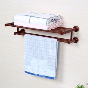 Wall Mounted Contemporary Bathroom Corner Freestanding Folding Aluminum Towel Rack