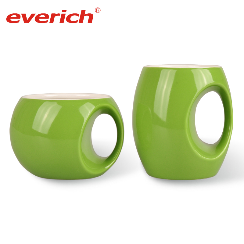 Everich custom ceramic coffee mug with lid sublimation factory