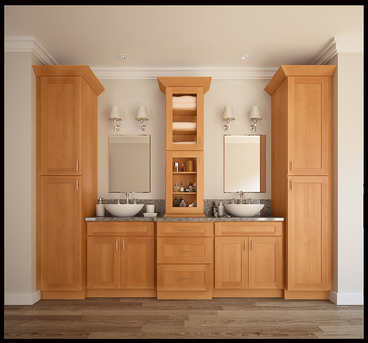 Shaker Rta Wood Bathroom Vanity Cabinet