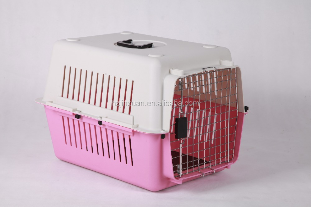 "Large Pet Cat Dog 36"" Air Travel Transport Plastic Carrier Kennel Cage Crate Bed"