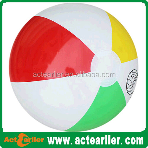Promotional customized printed inflatable free phthalate pvc beach ball
