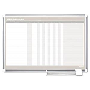 In-Out Wall Mounted Magnetic Whiteboard Size: 2 H x 3 W