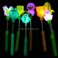 Novelty glow items noise maker toy led blinking light stick fan led handlap Event & Party Supplies