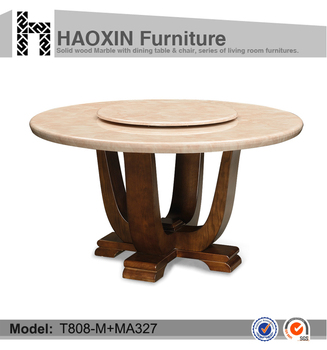 Round Dining Table With Rotating Centre