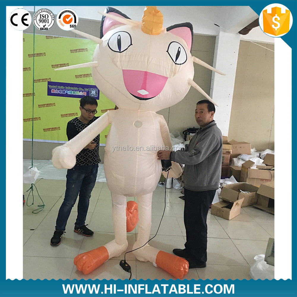 inflatable Pokemon Meowth cartoon model outdoor decoration and promotion