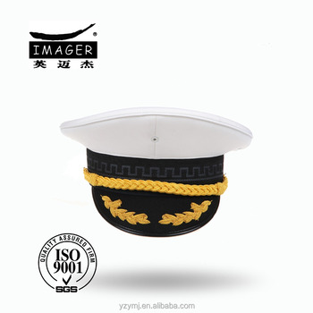 Customized Air Defence Forces Captain Hat with Gold Embroidery for Marine e7b43612702