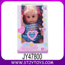 braids tied candy female baby platic doll in 14 inches