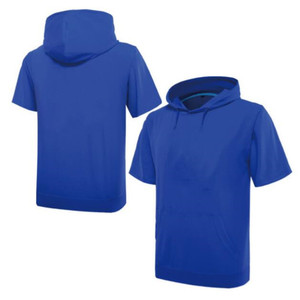 European popular style short sleeve t shirts with hood for mens
