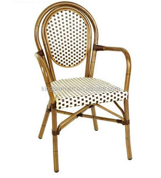 All Weather Rattan French Bistro Arm Chair Bistro Chairs For Sale