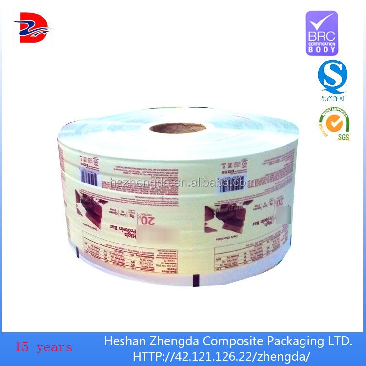 brushed aluminum foil plastic film for food packaging plastic roll film