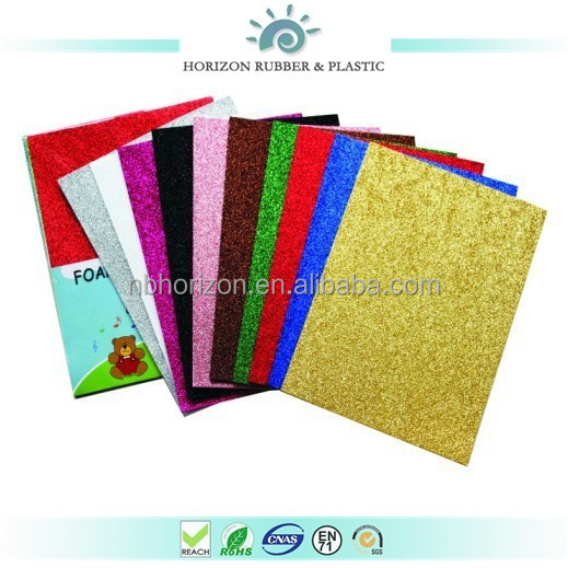 Horizon non-toxic ethylene vinyl acetate foam sheet with glitter