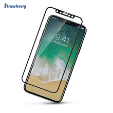 Free Sample !!! Alibaba china high transparant 9h hardness tempered glass 4D Full Cover screen protector for iPhone X