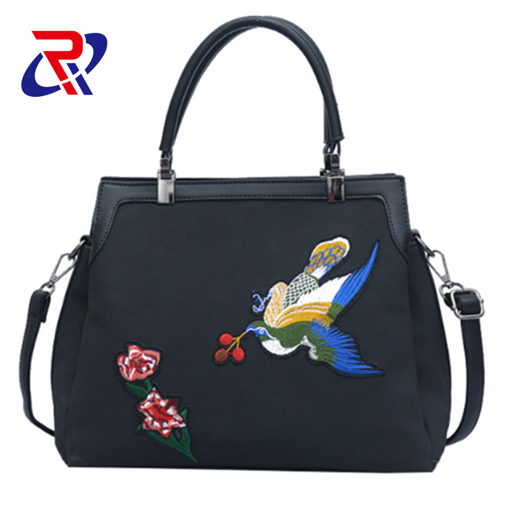 hotsale ladies embroidery bags fashion crossbody <strong>handbag</strong>