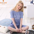 Summer Brand Girls Cotton Lounge Pajama Short Set Fashion Women O neck Polka Dot Lounge Wear