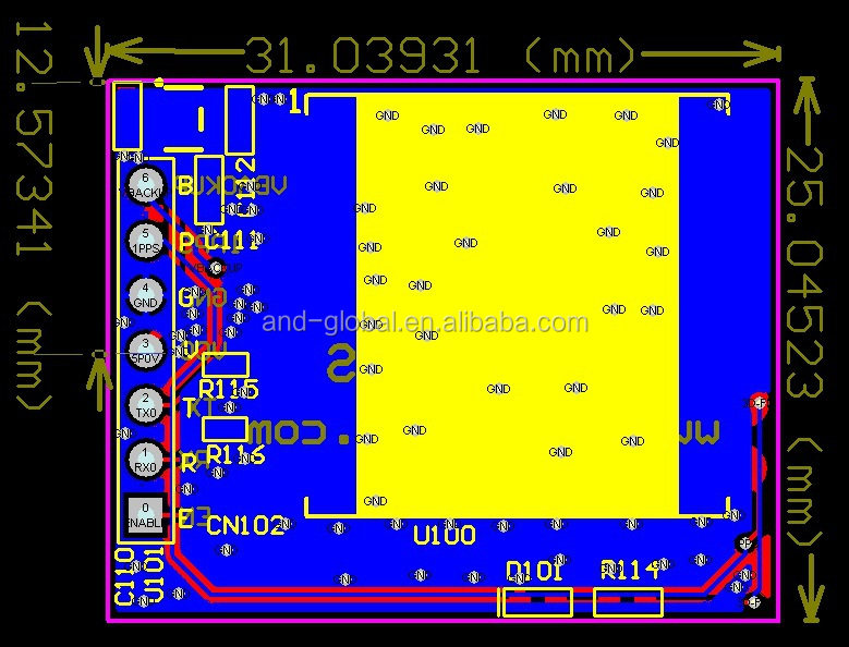 Ultimate MTK3333 GPS breakout,default 9600bps/1Hz(can Custom-made)