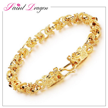 Saint Dragon Jewelry 2017 Latest Design Saudi Gold Chain Bracelet