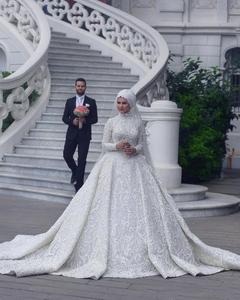 c419da2704 Muslim Hijab Wedding Dress