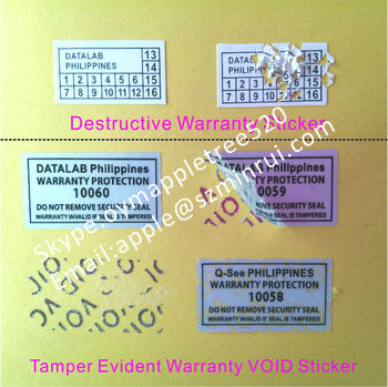 Warranty Void Protection Labels Do Not Remove Security