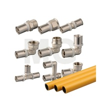 Nickel Plated Brass Compression Fittings for PEX AL PEX Pipe